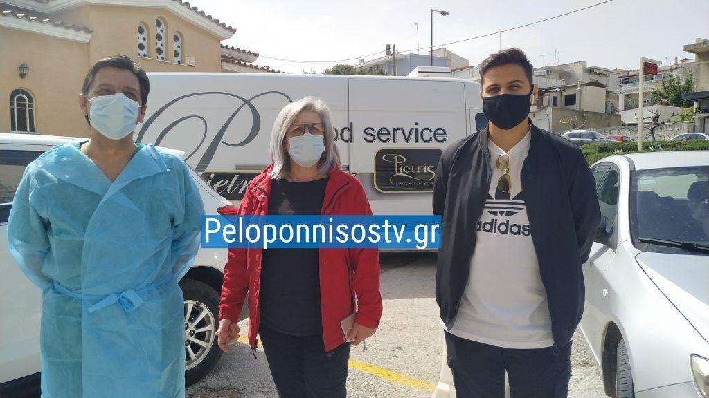 Προσφορά αγάπης σε όλους τους εργαζόμενους του Νοσοκομείου Κορίνθου απο την εταιρία Pietris